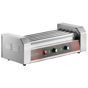 12 Hot Dog Stainless Steel Concession Stand Electric Roller Grill With 5 Rollers