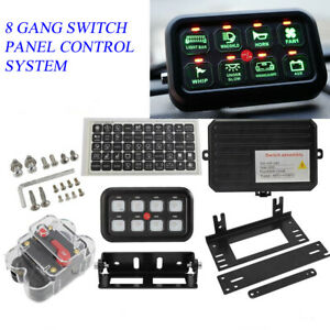 Universal 8 Gang On off Switch Panel Box Electronic Relay Control System Car