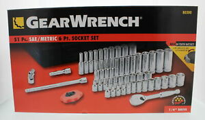 Gearwrench 80300 51 Piece 1 4 Drive 6 Point Socket Set