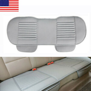 Gray Auto Car Pu Leather Rear Back Seat Cover Breathable Cushion Chair Mat Usa