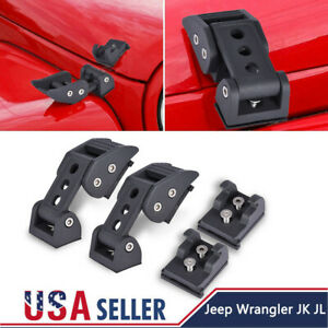 For Jeep Wrangler J K Jl Unlimited Accessories Hood Latch Locking Catch Buckle