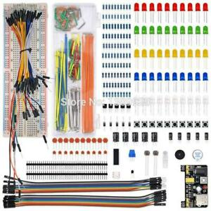 Electronics Component Basic Starter Kit With 830 Tie Points Breadboardcable Etc