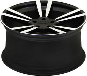22 Wheels For Cayenne Porsche On 22 X 11 Satin Black Machine Pre order 1 Set