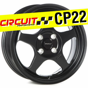 1 Circuit Performance Cp22 15x6 5 4 100 35 Flat Black Wheels Rims Spoon Style