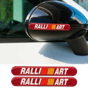 2pcs Ralliart Carbon Fiber Car Side Door Edge Scratch Protector Guard Sticker