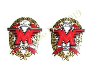 Brand New Quality Set Of 2 Matchless Toolbox Oil Tank Sticker