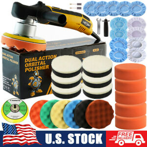 Pro Random Orbital Car Polisher Dual Action Buffer Sander Kit 6 Variable Speed