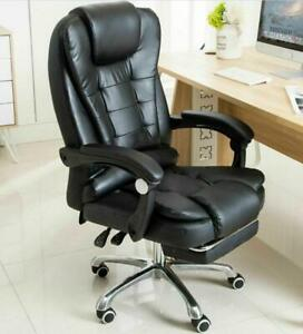Adjustable Height Office Chair Leather Computer Gaming Chair Massage Function Gl