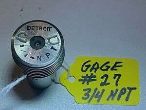 Detroit Thread Plug Gage Pipe 3 4 npt