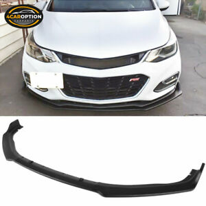 Fits 16 20 Chevy Cruze Rs Oe Style Front Bumper Lip 3pc Unpainted Pp