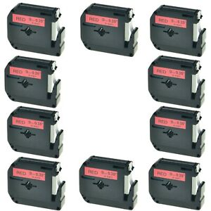 10pk 9mm M k421 Mk421 Black On Red Label Tape For Brother P touch Pt 85 3 8