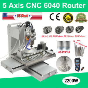 5 Axis Cnc Router 6040 3d Engraving Machine Usb 2 2kw Cutting Milling Engraver