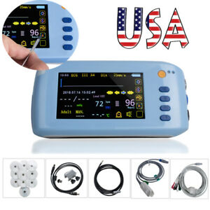 Lcd Touch Screen Patient Monitor 6 parameter Portable Icu Ccu Vital Sign Cardiac