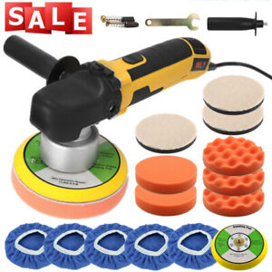 6 Random Orbital Car Polisher Dual Action Buffer Sander Wax Kit Variable Speed