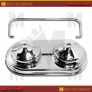 Fits Chevy Gm Oval Steel Master Cylinder Cover Single Bail Chrome