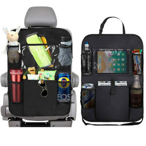Car Seat Back Organizer 6 Storage Pocket With Touch Screen Tablet Protector Bag