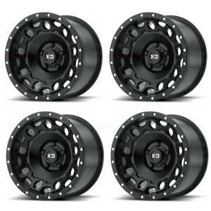 17x9 Xd Xd129 Holeshot 6x5 5 6x139 7 12 Satin Black Wheels Rims Set 4
