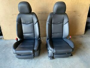 Cadillac Ats 2013 2018 Oem 2 0l Front Leather Power Bucket Chair Seats Seat 80k