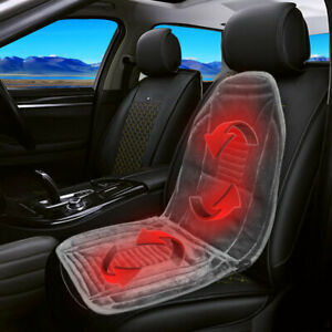 Universal Car Heated Seat Cover Thermal Cushion Front Heater Warmer Pad