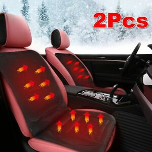 2pcs Thickening Heated Car Front Seat Cover Pad Heater Cushion Warmer