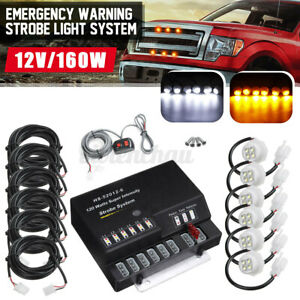 120w 6 Led Bulbs Emergency Warning Strobe Light Lamp System Kit Hide A Way