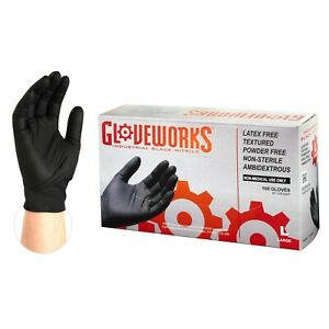1000 cs Gloveworks Binpf Black Nitrile Latex Free Industrial Disposable Gloves