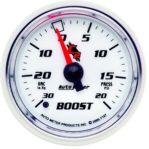Autometer 7107 C2 Mechanical Boost Vacuum Gauge With Blue Led Lighting