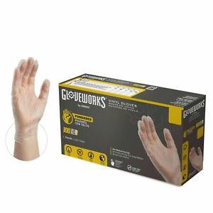 1000 cs Gloveworks Iv Clear Industrial Latex Free Vinyl Disposable Gloves