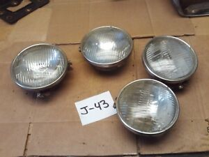 1967 1968 Cougar Xr7 Set 4 Headlight Mount Buckets Rings Torino Mustang Cyclone