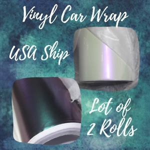 Cream Iridescent Turquoise Chrome Vinyl Vehicle Car Wrap Rolls 1 52mx20m usa