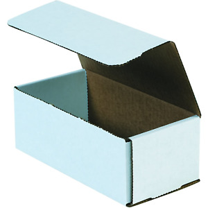 Boxes Fast Bfm843 Corrugated Cardboard Mailers 8 X 4 X 3 Inches Tuck Top White