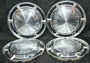 1962 Dodge Lancer Hubcaps Wheel Covers Set Of 4 Used Oem 13 Inches