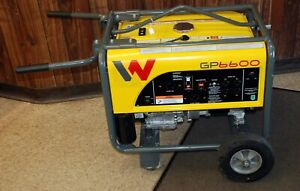 Wacker Neuson Gp6600 Premium Portable Generator W Wheel Kit Honda Engine