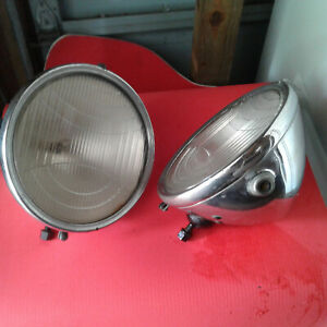 1931 Graham Vintage Car Headlights With Fender Mounts And Bar