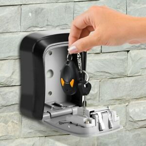 4 Digit Combination Key Safe Security Storage Lock Case Wall Mount Organizer