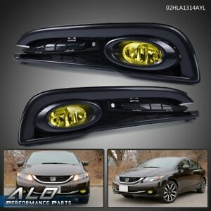 Front Bumper Driving Fog Lights Switch For 2013 2015 Honda Civic 4dr Sedan