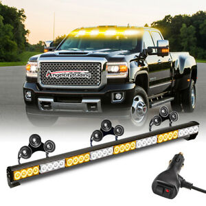 35 32 Led Traffic Advisor Emergency Hazard Warning Strobe Light Bar Amber