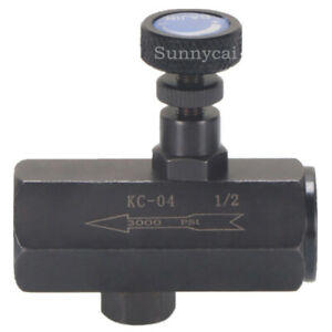 Flow Control Valve 1 2 Throttle Valve Check Valve Npt 3000psi Steel Hydraulic
