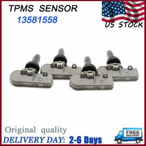 For Gm Chevrolet Buick 4pcs Genuine 13581558 Oem Tire Air Pressure Sensor Tpms