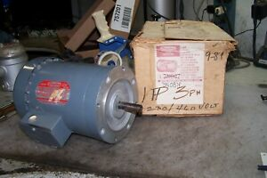 New Dayton 1 Hp Electric Ac Motor 230 460 Vac 3 Phase 1725 Rpm G56c Frame 3n087f