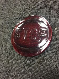 Vintage Red Stop Brake Tail Light Lamp Lens Hot Rat Rod Accessory Railroad