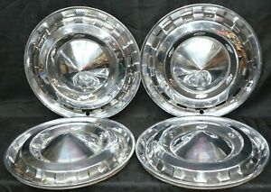 1956 Chevrolet 15 Hubcaps Bel Air Two Ten Nomad Vintage Set Of 4 Oem Used