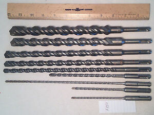 9 Bosch Ansi Sds Plus Carbide Tipped Drill Bits 5 32 To 7 8 S4l German F850