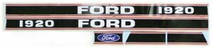 Red Black Hood Decal Set Fits Ford Holland 1920 Models Mae30 0032 S66906