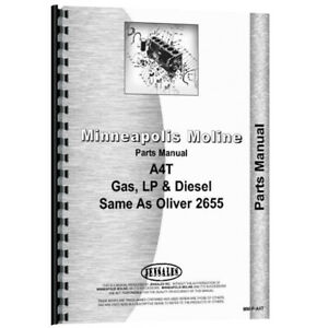 Parts Manual Fits Oliver White 2655 Models Rap79726 Rap79727