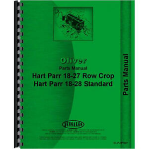 Parts Manual Fits Oliver (Hart Parr) 18-27 Models RAP80647