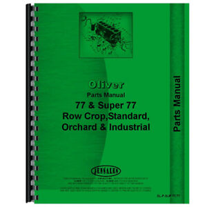Parts Manual Fits Oliver Super 77 Models Rap80680 Rap80681