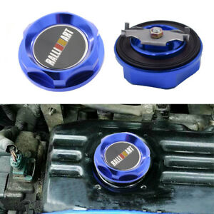 Brand New Ralliart Aluminum Racing Engine Oil Filler Cap Blue For Mitsubishi