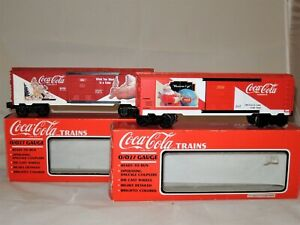 K-Line Lot of 2 Coca Cola Santa Box Cars, O and O27 Gauge