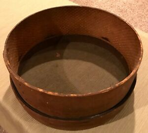 Rare Antique Primitive Shaker Wood Sifter Sieve Strainer European